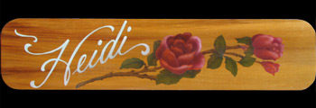 Custom Airbrushed Name Sign with a Rose